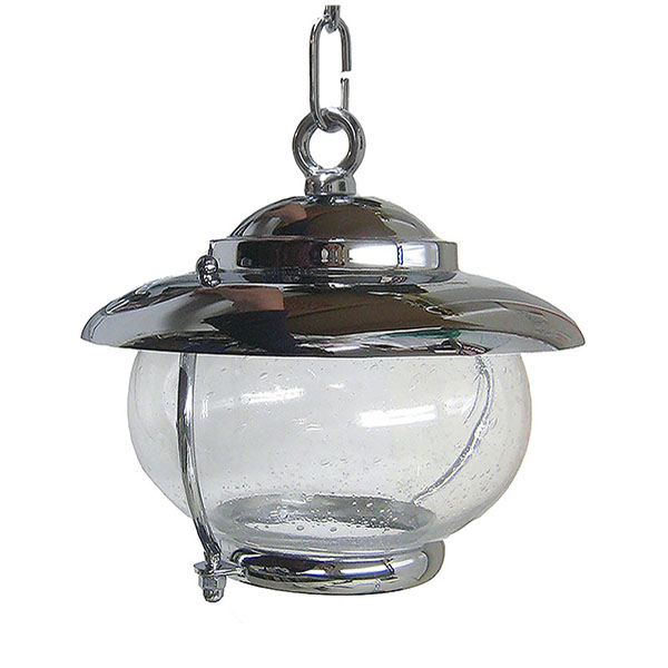 Chrome Bubble Glass Pendant (C-5C) by Shiplights