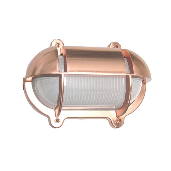Oval Cage Bulkhead Sconce by Shiplights