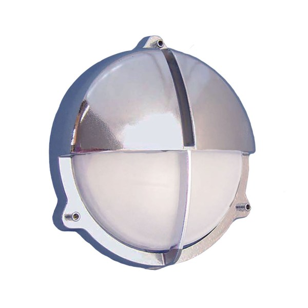 Chrome Round Bulkhead Sconce (R-11C) by Shiplights