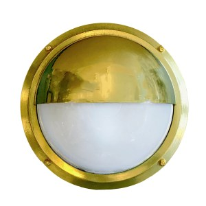 Shiplights Half Moon Nautical Bulkhead Visor Light by Shiplights