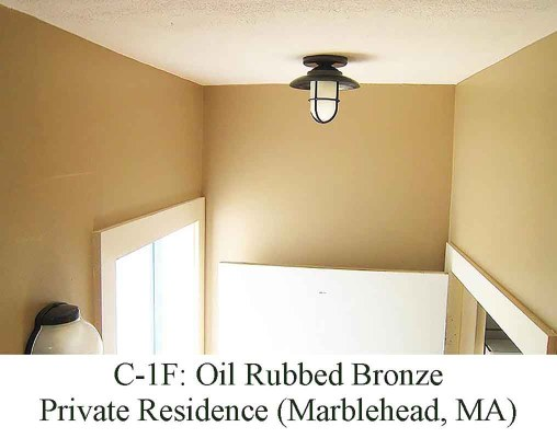 Small Hooded Flush Mount in Marblehead, MA