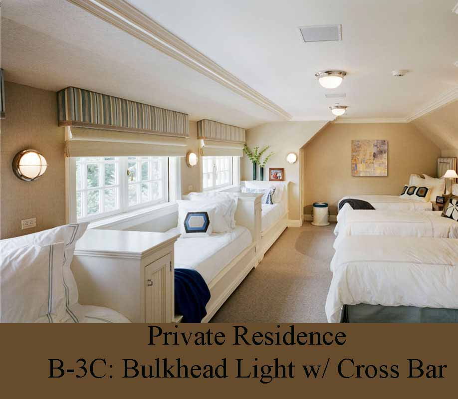 Nautical theme bunk room lights by Shiplights