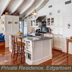 Marine Inspired Kitchen Lighting by Shiplights (Edgartown, MA)