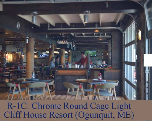 Chrome LED Restaurant Lighting by Shiplights (Ogunquit, ME )