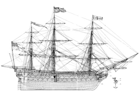 hms victory plans Gallery