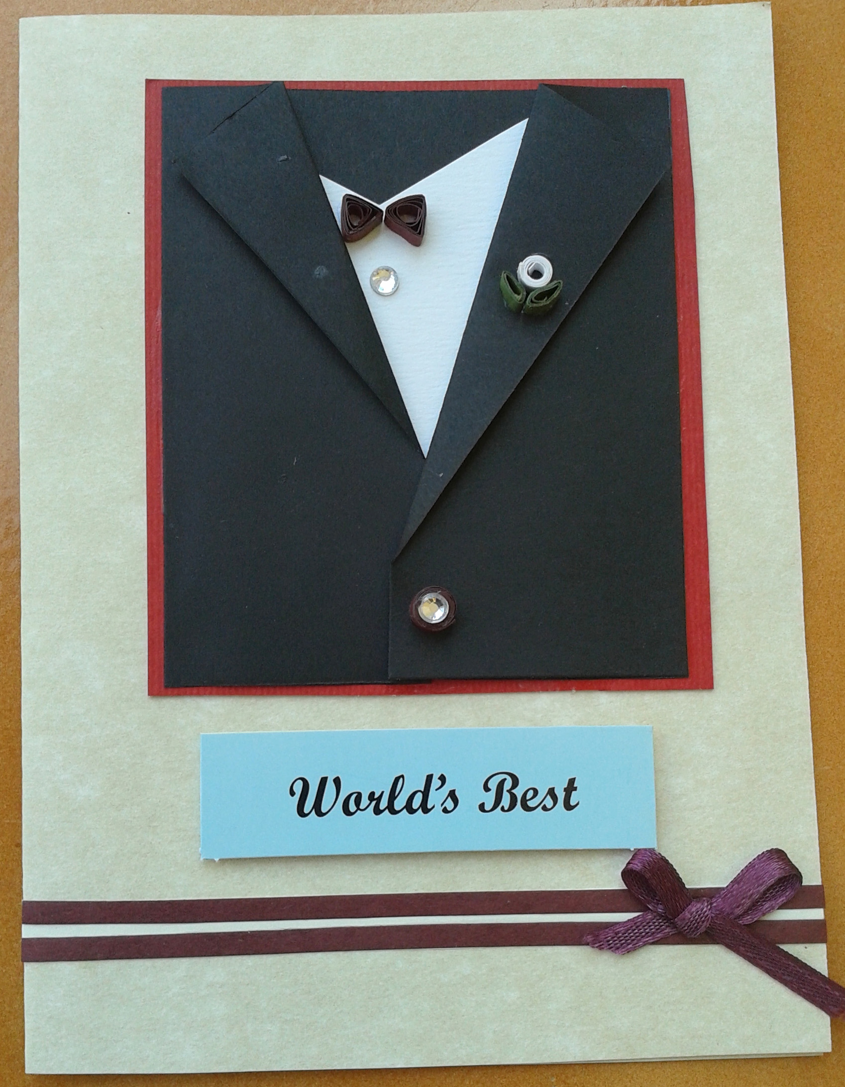 Buy World's Best Black Suit Card For Him ShipMyCard Com