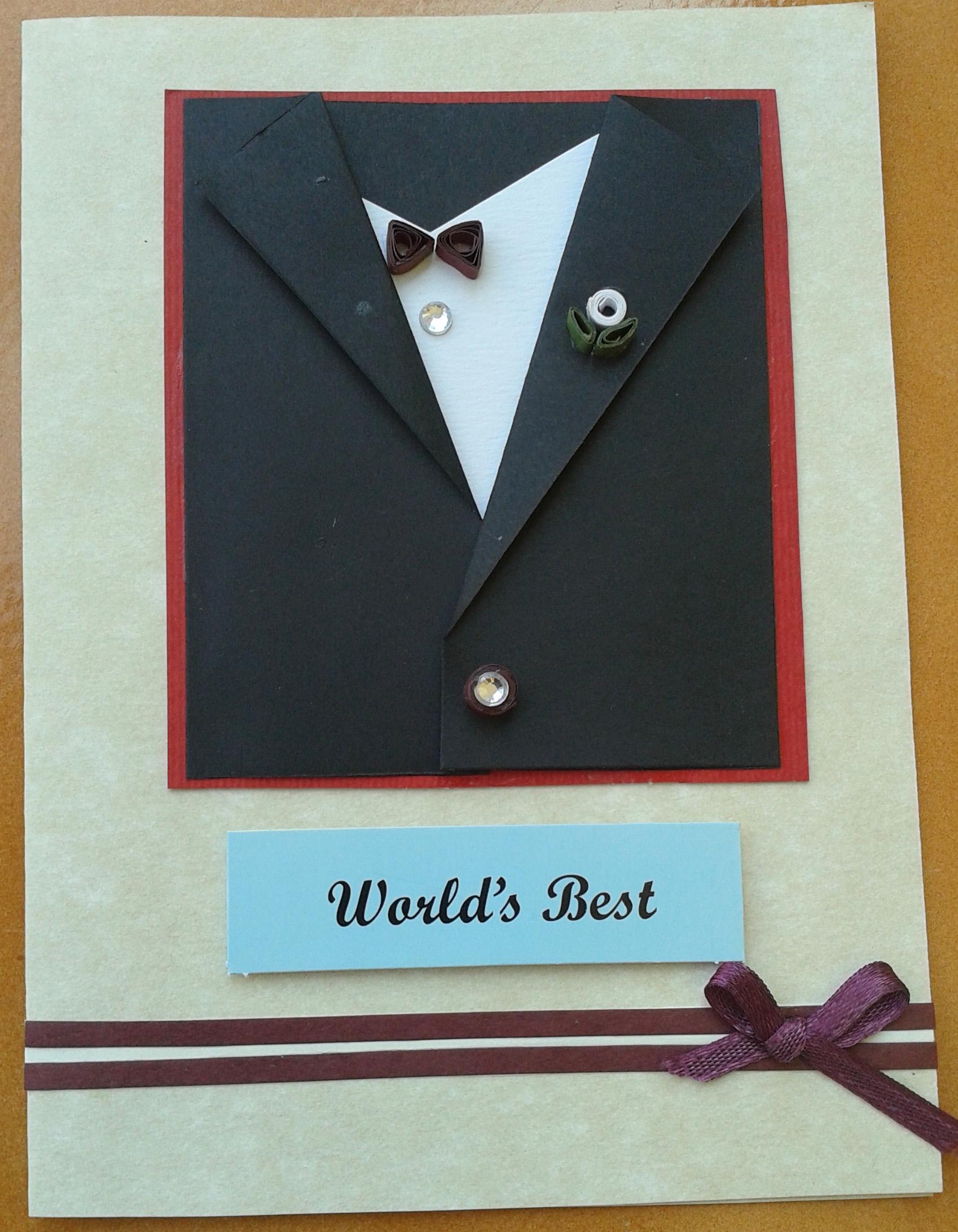 Buy World's Best Black Suit Card For Him ShipMyCard Com