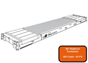 40' Platform Container