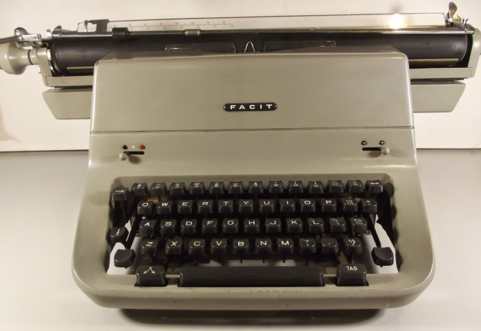 vintage shipping - manifest typing on typewriter