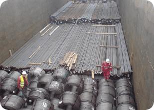 steel coils and rebar - bulk and break bulk