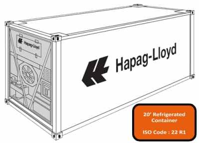 20' Reefer Container - container size and type - shipping and freight resource