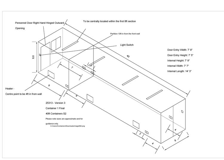 CONTAINER CONVERSION CASE STUDIES 40ft ply lined
