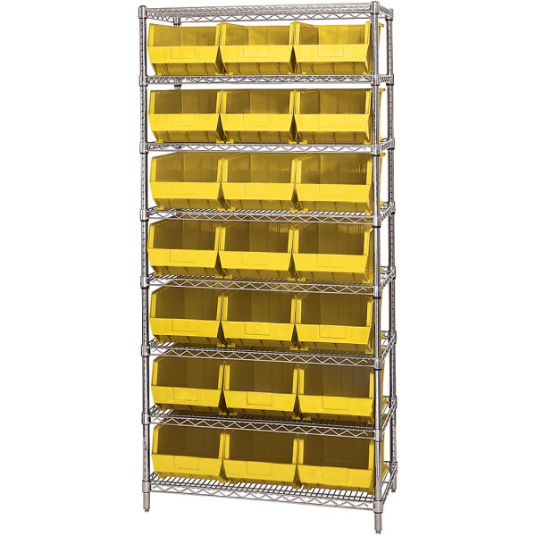 """36"""" X 18"""" 74"""" - 8 Shelf Wire Shelving Unit With 21"""
