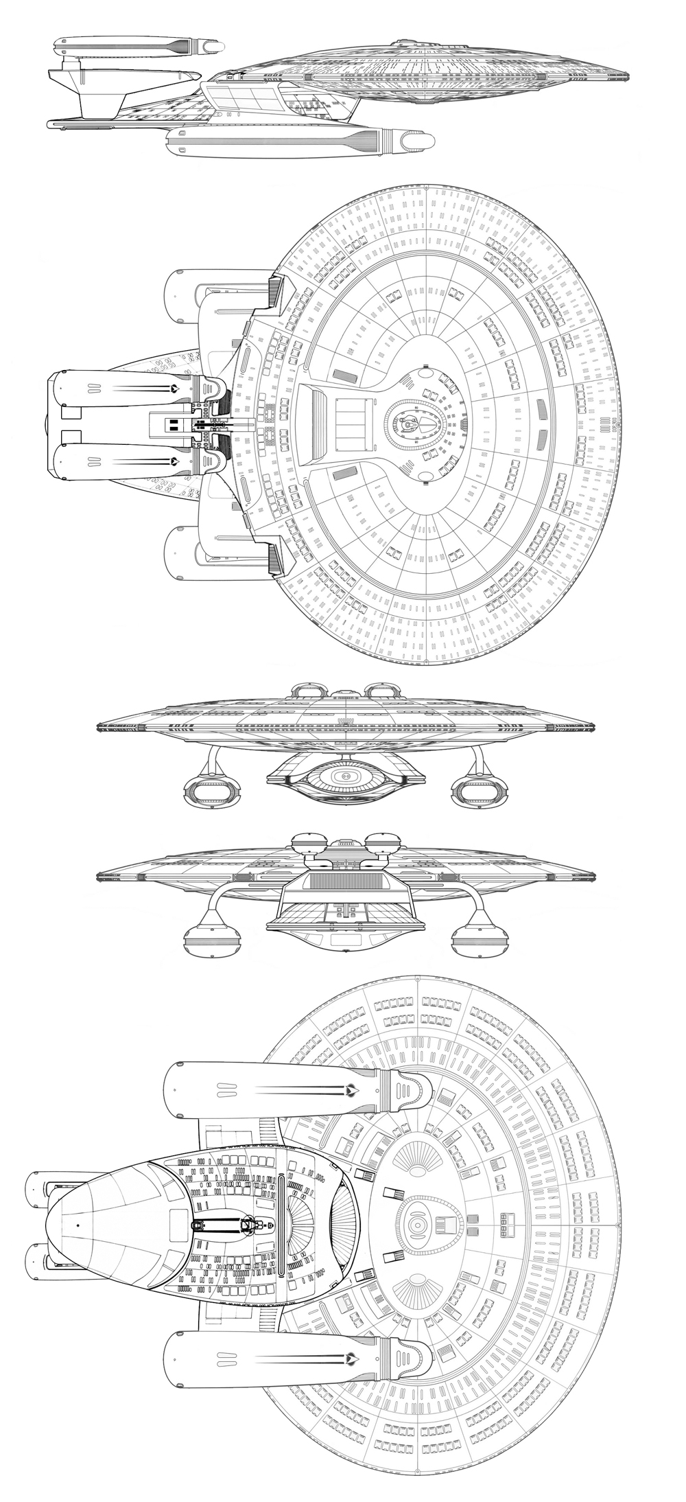 medium resolution of uss melbourne from the battle at wolf 359 in tng s best of both worlds pt ii