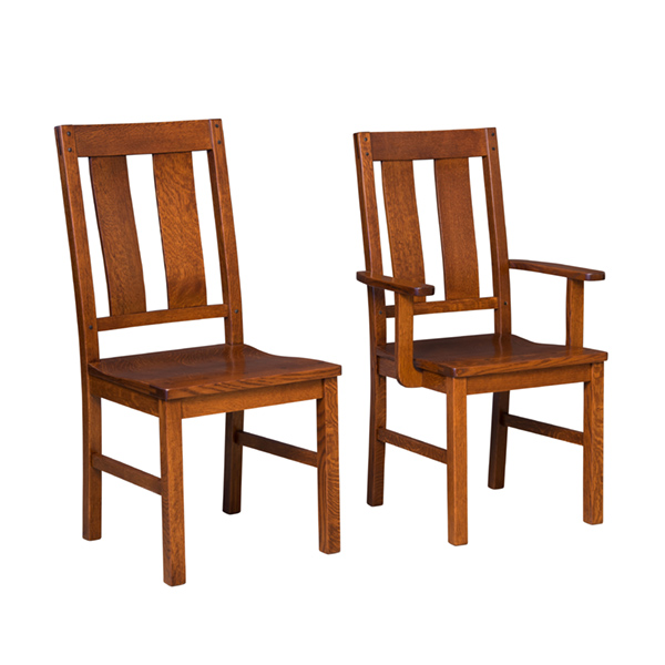 wooden restaurant chairs with arms fisher price bouncer chair amish dining furniture chairss bainbridge
