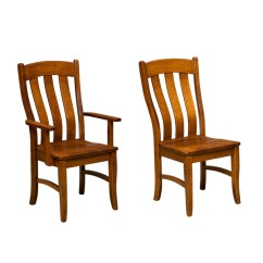 Wooden Restaurant Chairs With Arms Leather Accent Amish Dining Furniture Chairss Alsberg Chair