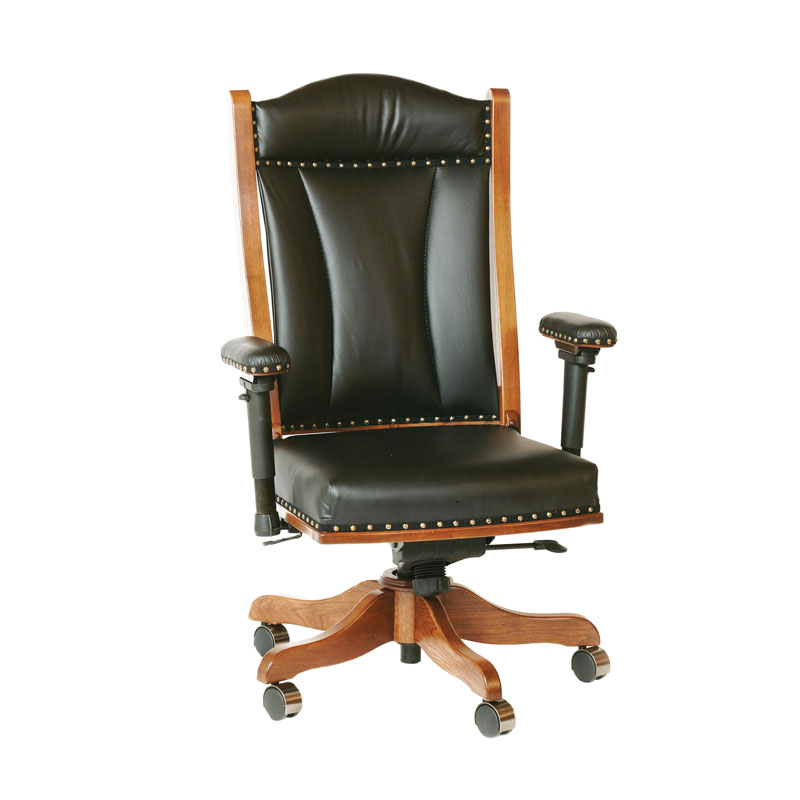 office chair with adjustable arms distressed leather chairs uk desk shipshewana furniture co