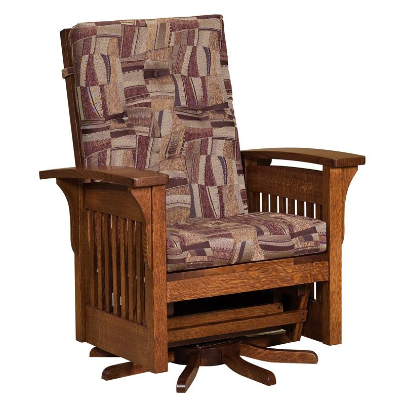 rocker glider chair high back cushion amish rockers gliders furniture gliderss bow arm slat swivel