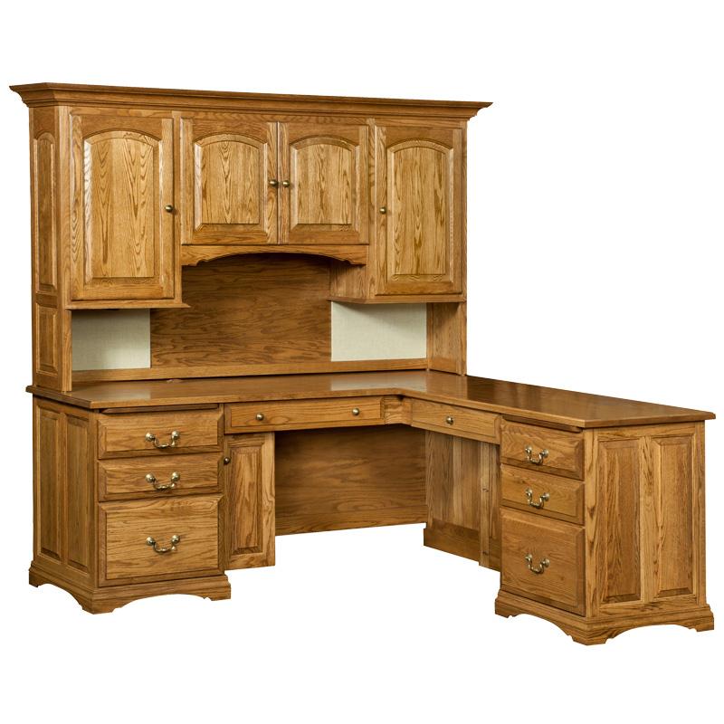 Mannington Corner Desk  Hutch Top  Shipshewana Furniture Co