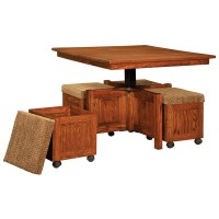 5 pc Square Coffee Table and Bench Set | Shipshewana ...