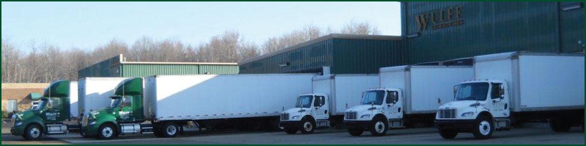 Fleet of Wulff Transportation Trucks