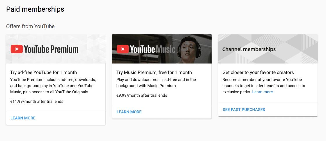 youtube付费会员