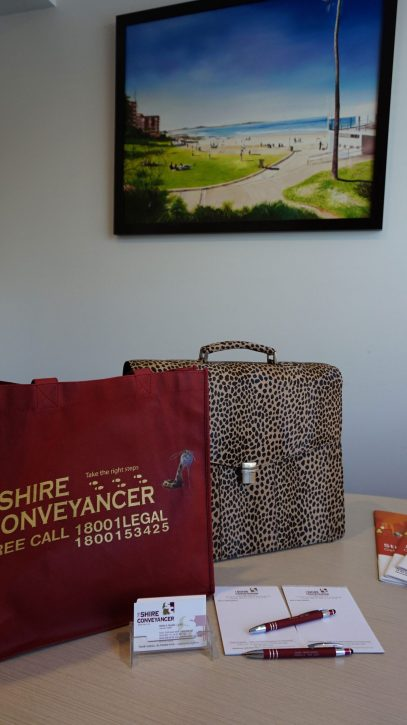 Shire Conveyancers Pen and Bags