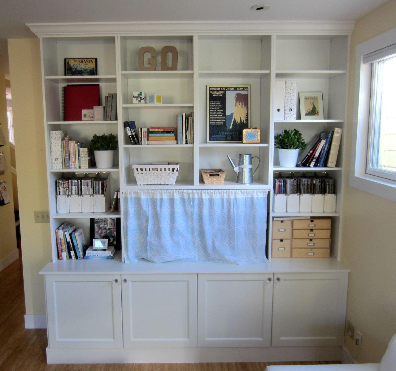 ikea hack 2: besta built-in family room tv bookshelf – shirley