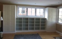 DIY: Built-ins using IKEA Besta shelves and Pax wardrobes ...