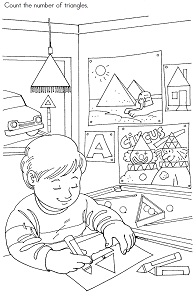 Preschool printables triangles 9jasports