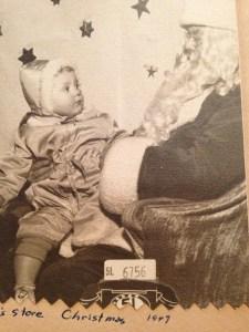 on Santa's lap