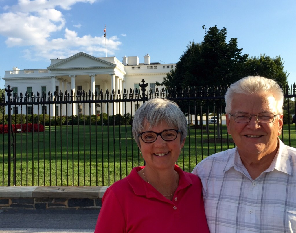 The White House is always an inspiring sight. The sun shone on our day from beginning to end.