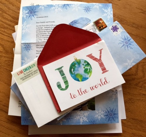 2015 letters from friends and family