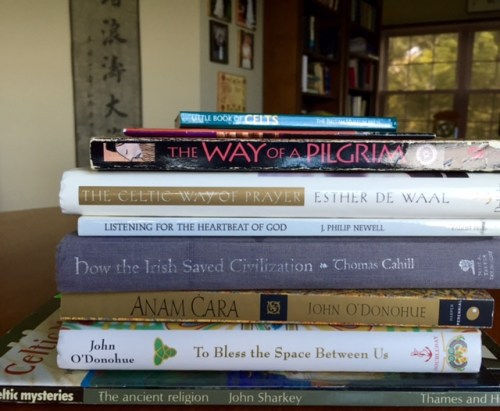 Celtic Christianity books -- just a few of the many.