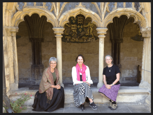 With Anne and Janet at the Norwich Cathedral, July, 2012. Just before purchasing the icon above
