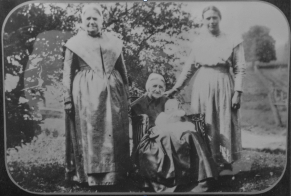 Baby Barbara Ann, Mother Anna Mary, Grandmother Barbara, Great Grandmother