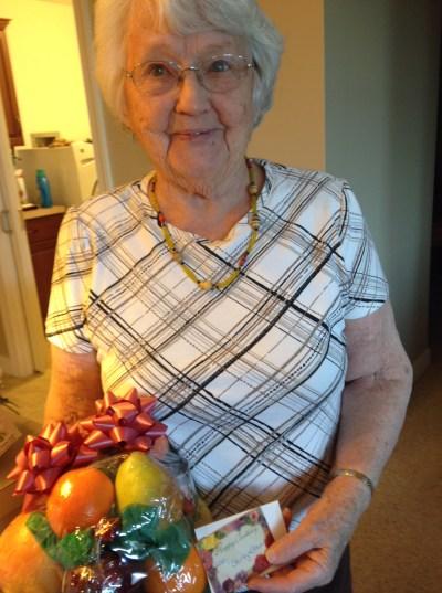 My mother on her 91st birthday on February 27, 2018. Photo by Doris Dagen.