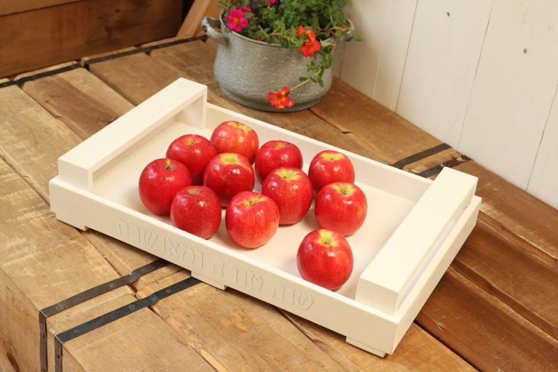 ארגז דקורטיבי עם תפוחים - מתנות לראש השנה למשפחה