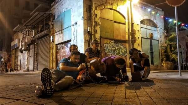 סדנת צילום בסמארופון ביפו בלילה
