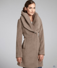 Purchase Calvin Klein Faux Fur Trim Duffle Coat from Bluefly.com