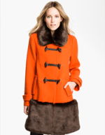 Kate Spade New York Faux Fur & Woll Coat Nordstrom.com