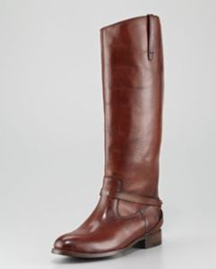 Buy Frye Lindsay Leather Plate Boot from Neiman Marcus