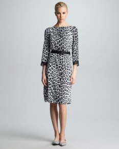Marc Jacobs – Belted Leopard-Print Dress