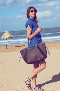 Louis Vuitton Neverfull Monogram in Grand Bleu