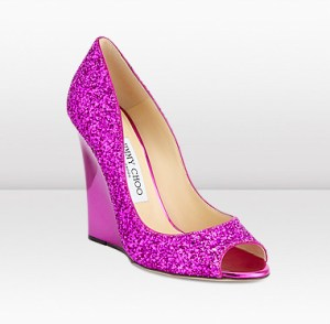 Jimmy Choo - Biel in Orchid Glitter Fabric