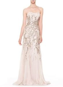 Carolina Herrera – Strapless Beaded Chiffon Gown