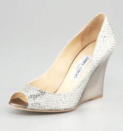 Jimmy Choo – Baxen Glittered Wedge Pump