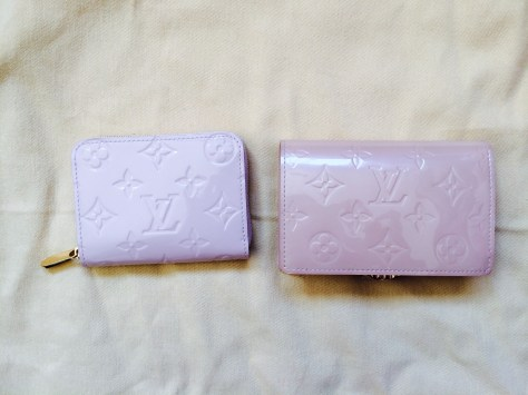 Louis Vuitton Vernis in Rose Angelique and Rose Florentin