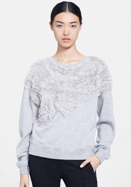 Jason Wu Chiffon Applique Sweatshirt