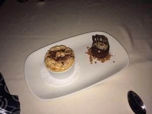 Coconut Soufflé with Chocolate Gelato